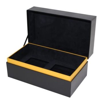 Custom Square Black Chipboard Boxes med lock