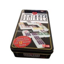 55 шт двойной 9 Домино цвета точки в жестяной коробке