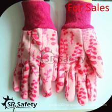 SRSAFETY cotton glove suppliers in china flower printer gloves