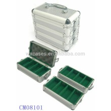 300 aluminum poker chip case can be splitted into 3 parts