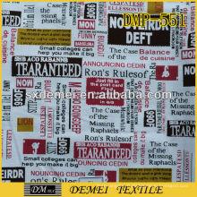 tissus journal bon marché tropical ameublement impression textile à la maison