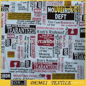 Дешевые тропических печати обивочная ткань домашнего текстиля газета ткань