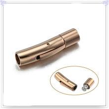 Bracelet en cuir en acier inoxydable Bracelet en cuir (SL0004RG)