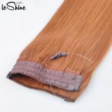 Heißer Verkauf Top Qualität Double Drawn Halo Haarverlängerung Blondes Haar