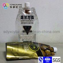 Tamaño personalizado Stand up Spout Bag para Drink / Juice / Milk