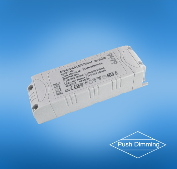 45w push dimmable led driver for downlights