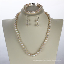 Snh 8mm off Round a+ Silver Jewelry Fresh Water Pearl Set