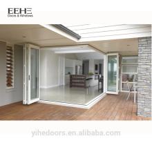 Modern aluminum bifold glass door price