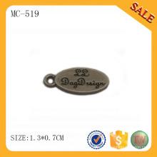 MC519 Овальный дизайн выгравированный пользовательский логотип ювелирные метки
