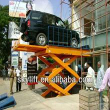 Air cylinder car lift table