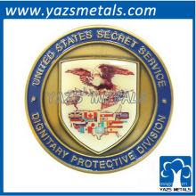 moneda de encargo de los E.U.S. con el esmalte y la placa