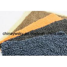 100 molleton berbère superbe superbe de tissu de Faux Sherpa micro de polyester pour la doublure d'habillement d'hiver