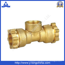 Brass Tee Coupling Pipe Fitting with Compression Ends (YD-6053)