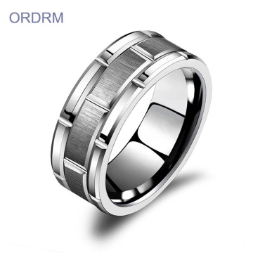 Custom Mens Engraved Tungsten Wedding Rings