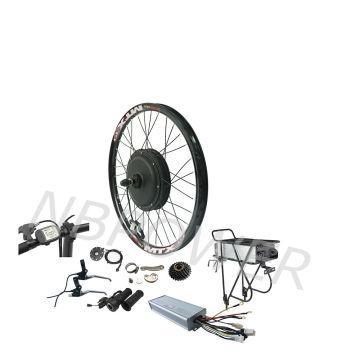 48v 1500W 2000W 2500W e bike conversion kit electric bike conversion kit with 48v 20Ah rear rack battery pack