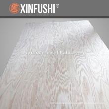 Cuarto de corte de la textura de la montaña Roble rojo de madera contrachapada