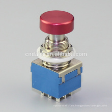 Interruptor de pedal Daier 3PDT, pedal de mando colorido @