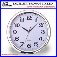 Plata de marco Logo de impresión de plástico redondo Reloj de pared (Item22)