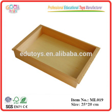 Educational Montessori Language Materials Promotional Wooden Toys Small Tray