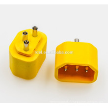 insert IEC 60320 C14 jaune blanc noir rohs