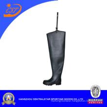 Fashion Black Rubber Hip Wader (6695A)