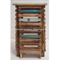 Recycled Wooden Modern Home Deco Corner Table