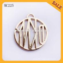 MC225 Fashionable custom brand metal logo tags with hang chains