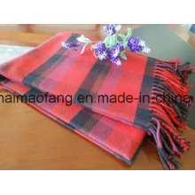 Woven Fringed Plaid Cotton Throw Blankets