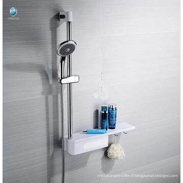 Rail multifonctionnel d'étagère d'accessoires de salle de bains glissant avec le support de stockage