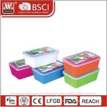 Kunststoff Runde Mikrowelle Essen Container(1.65L/2.5L)