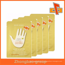 Composite material custom plastic mask bag for hand care mask with your design