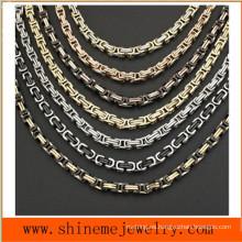 316L Collar de acero titanium bizantino vendedor caliente del collar titanium real (SSNL2650)