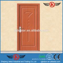 JK-P9034 наружная дверь / внутренняя дверь из ПВХ со стеклянным окном / дверью из цельной древесины