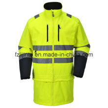 Revestimento do inverno de alta visibilidade Workwear segurança
