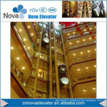 Panoramic Elevator with Glass Car Wall for Shopping Mall
