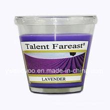 Lavendel duftende Soja-Wachs-Kerze für die Dekoration