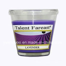 Lavender Scented Soy Wax Candle for Decoration