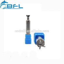 Fraises en bout de chanfrein de queue de queue d'aronde de carbure BFL pour acier et fonte