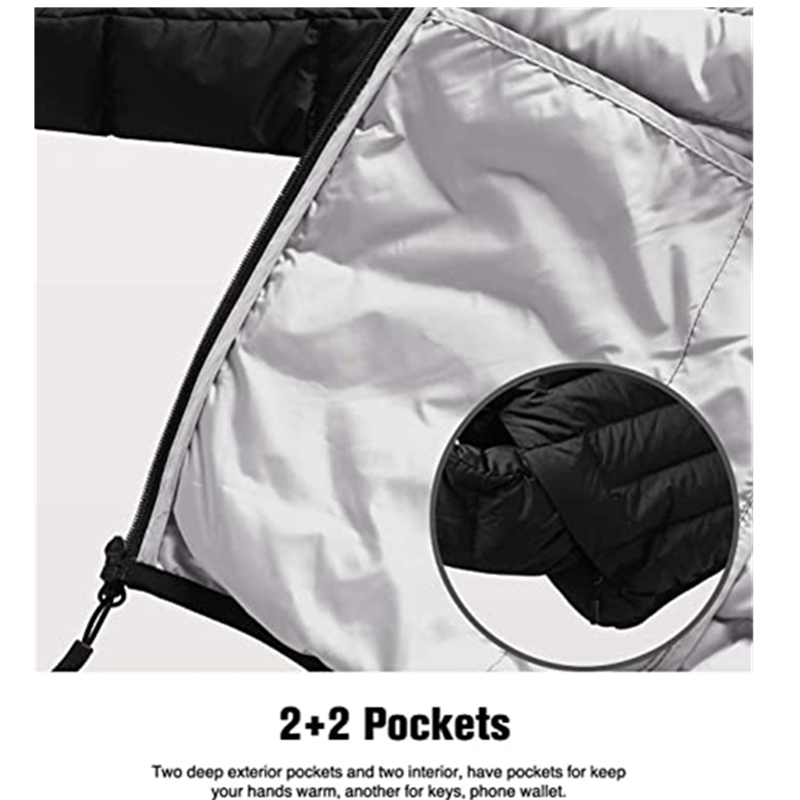 Men S Packable Down Jacket Water Resistant With Zipper Pockets Ultra7