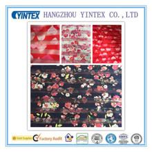 """56 """"tissu imprimé à rayures d'organza 100% polyester fait main et tricoté, 20d * 75D"""