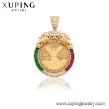 33072 Fashion copper alloy jewelry mexican style synthetic cubic zircon pendant