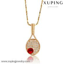 32075-Xuping в наличии золото теннис ожерелье спортивный ювелирных изделий