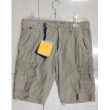 Calça curta masculina de algodão