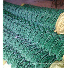 green chain link fence/ chain link fence coated PVC /diamond wire neting