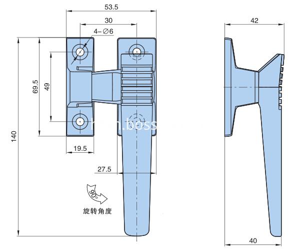 Zinc alloy Airtight Revolving Door Handle