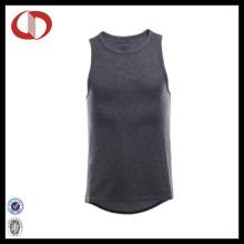 Atacado algodão respirável Tank Top Sports Vest em branco