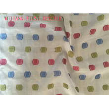 Algodón de seda de poliéster Jacquard Hilo Teñido de tela