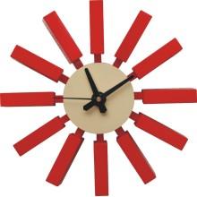 Réplique de l'horloge murale George Nelson en bloc rouge