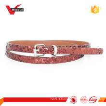 latest design women pu skinny belt