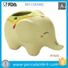 Pot de jardin créatif en céramique éléphant